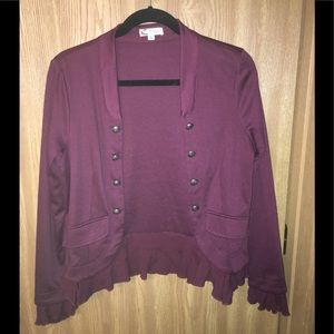 Wine colored embellished jacket